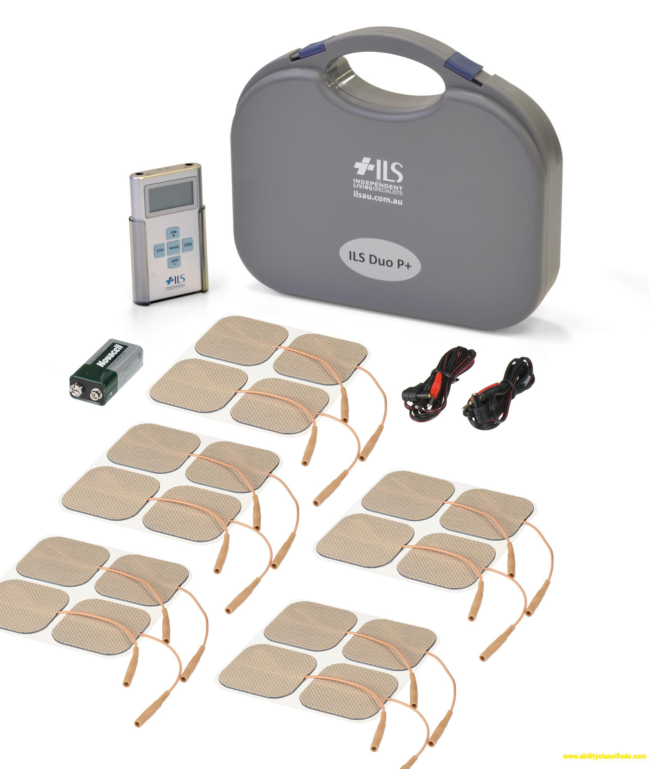 Dual Channel TENS Machine Pain relief – FREE 20 Pads Premium Display New Model