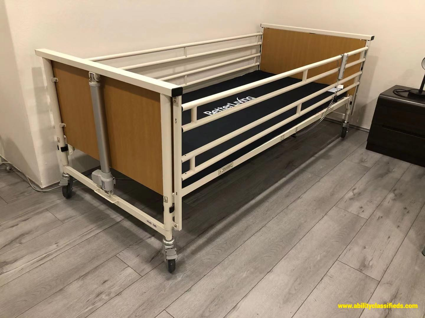 Electric transportable bed with air mattress