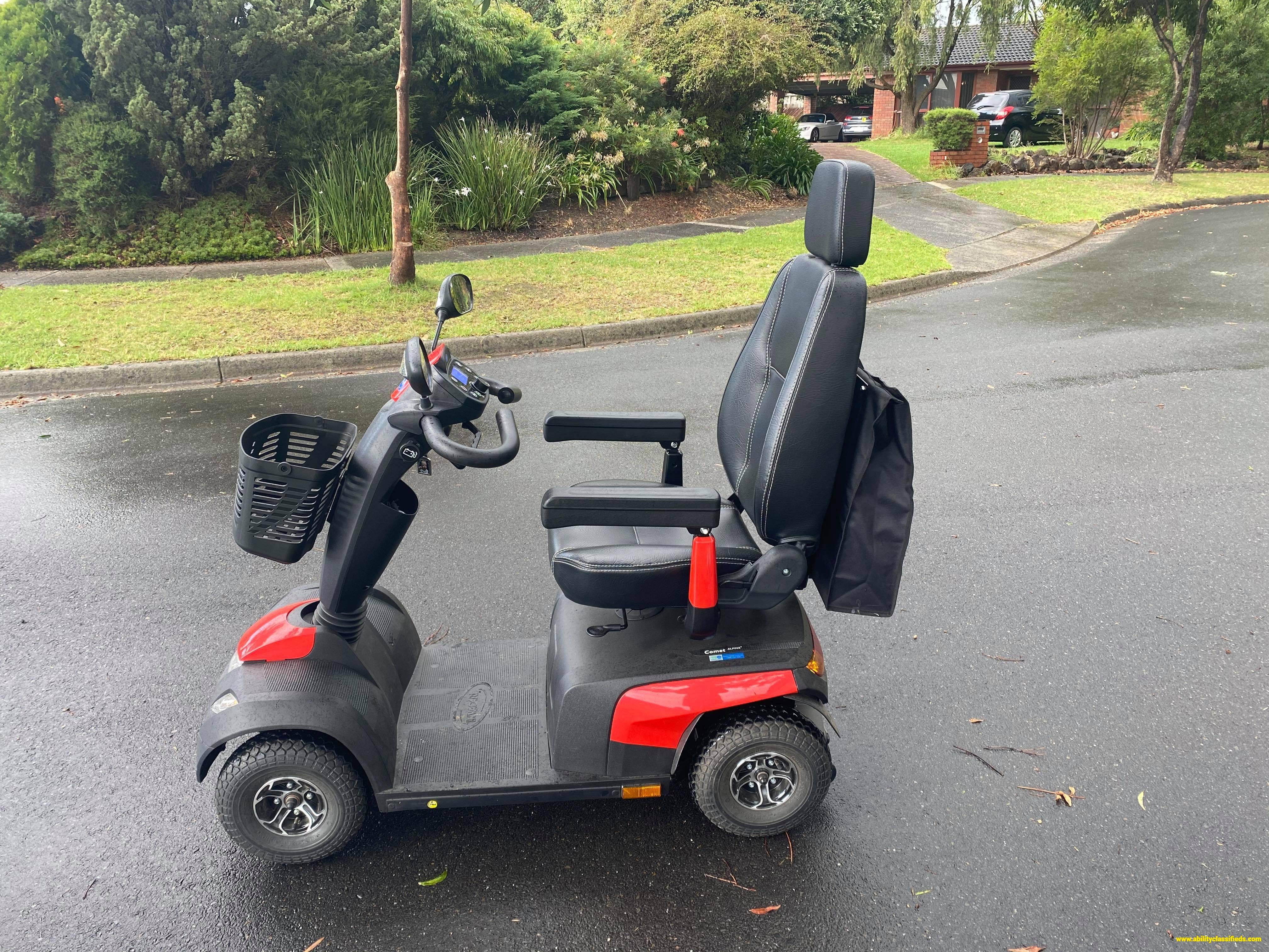 Invacare Comet Alpine+ Scooter. As New. RRP $5,129