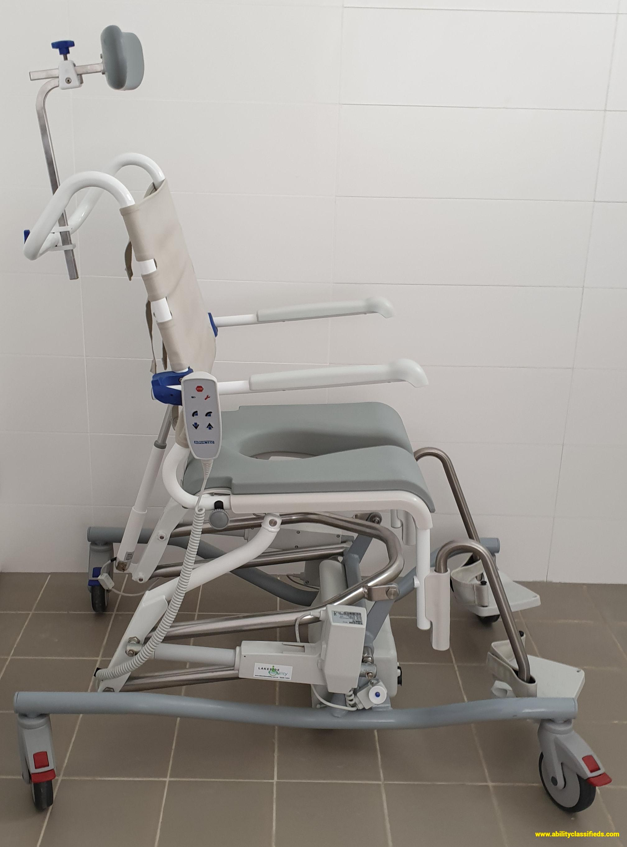 Aquatec Ocean E-VIP - electrically operated shower commode chair