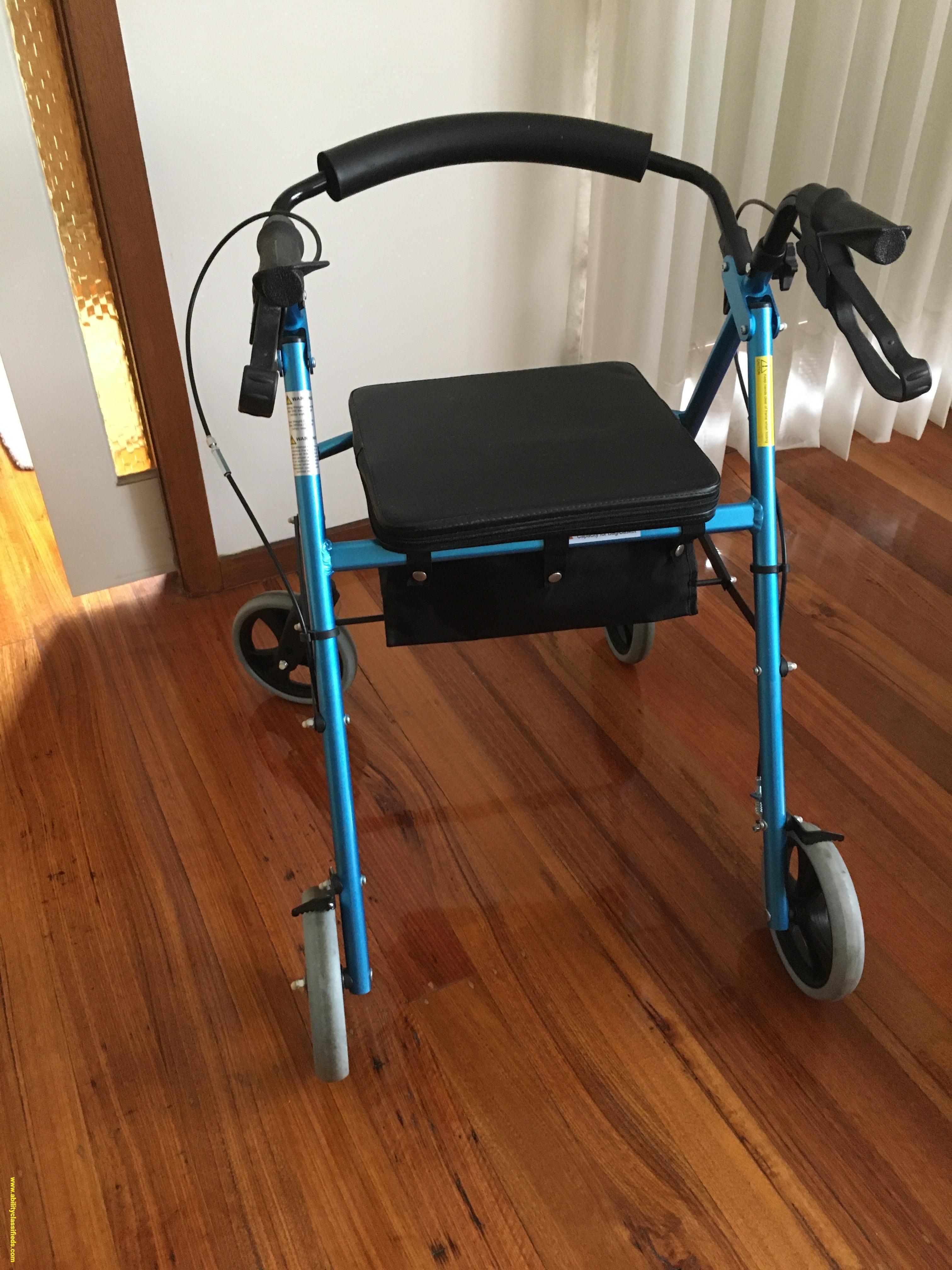 Foldable 4 Wheeler Mobility Walker