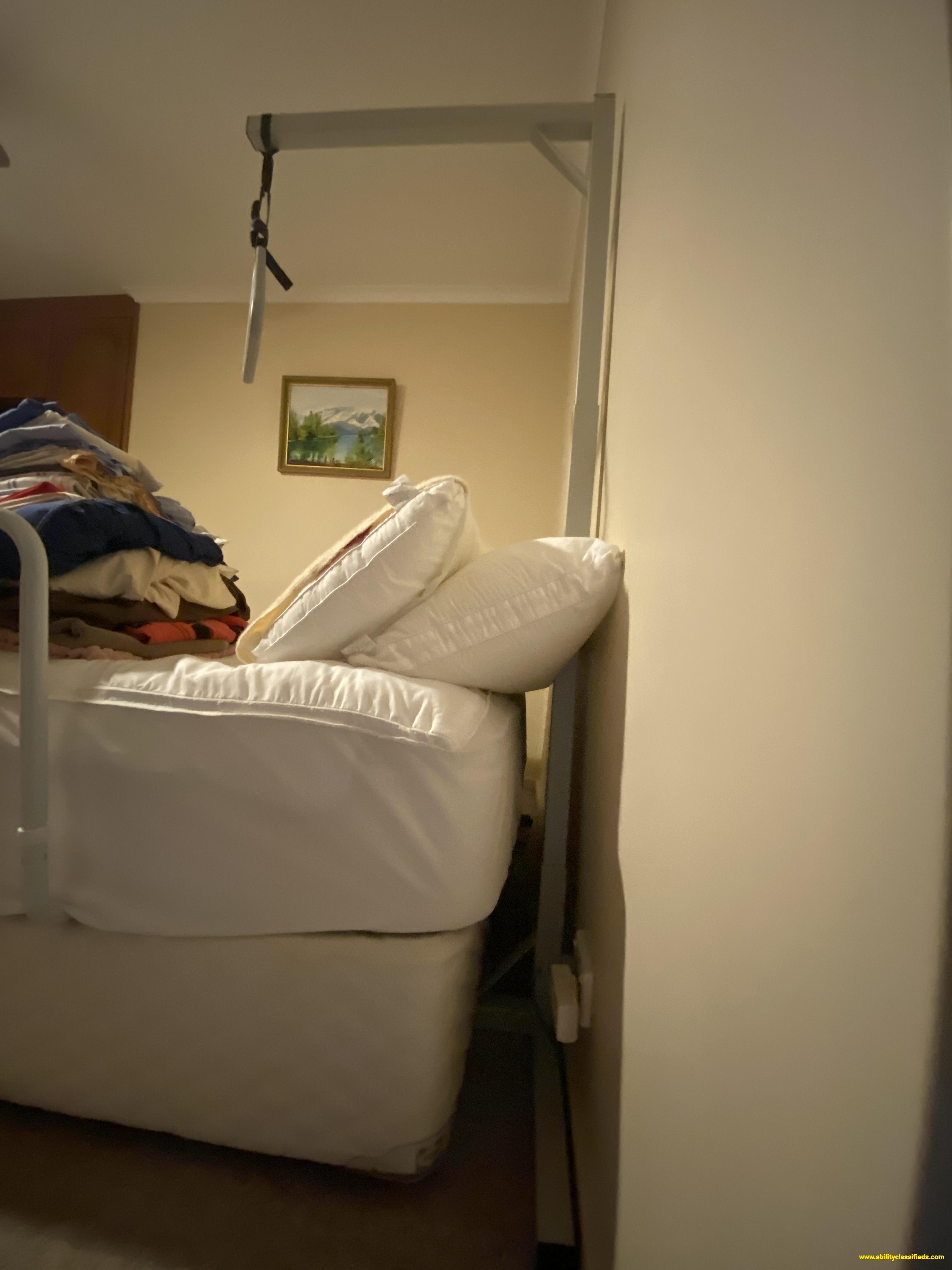 Bed assistance hoop & handle