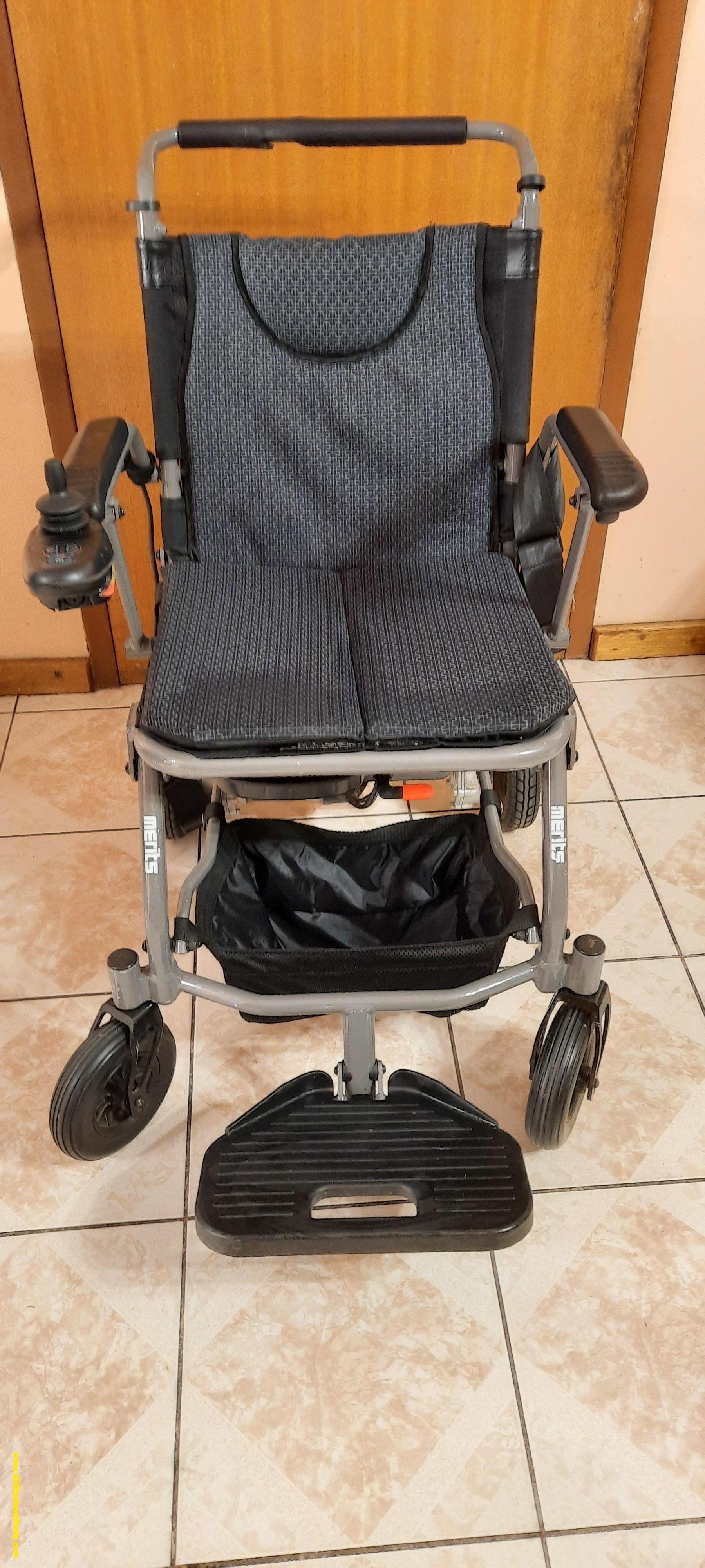 Merits Fold & Go Power Wheelchair- Grey, SWL:115kgs