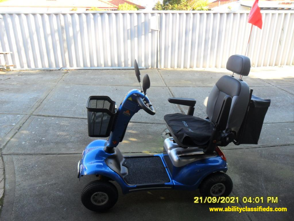 Mobility Scooter Shop Rider Rocky 4 Blue