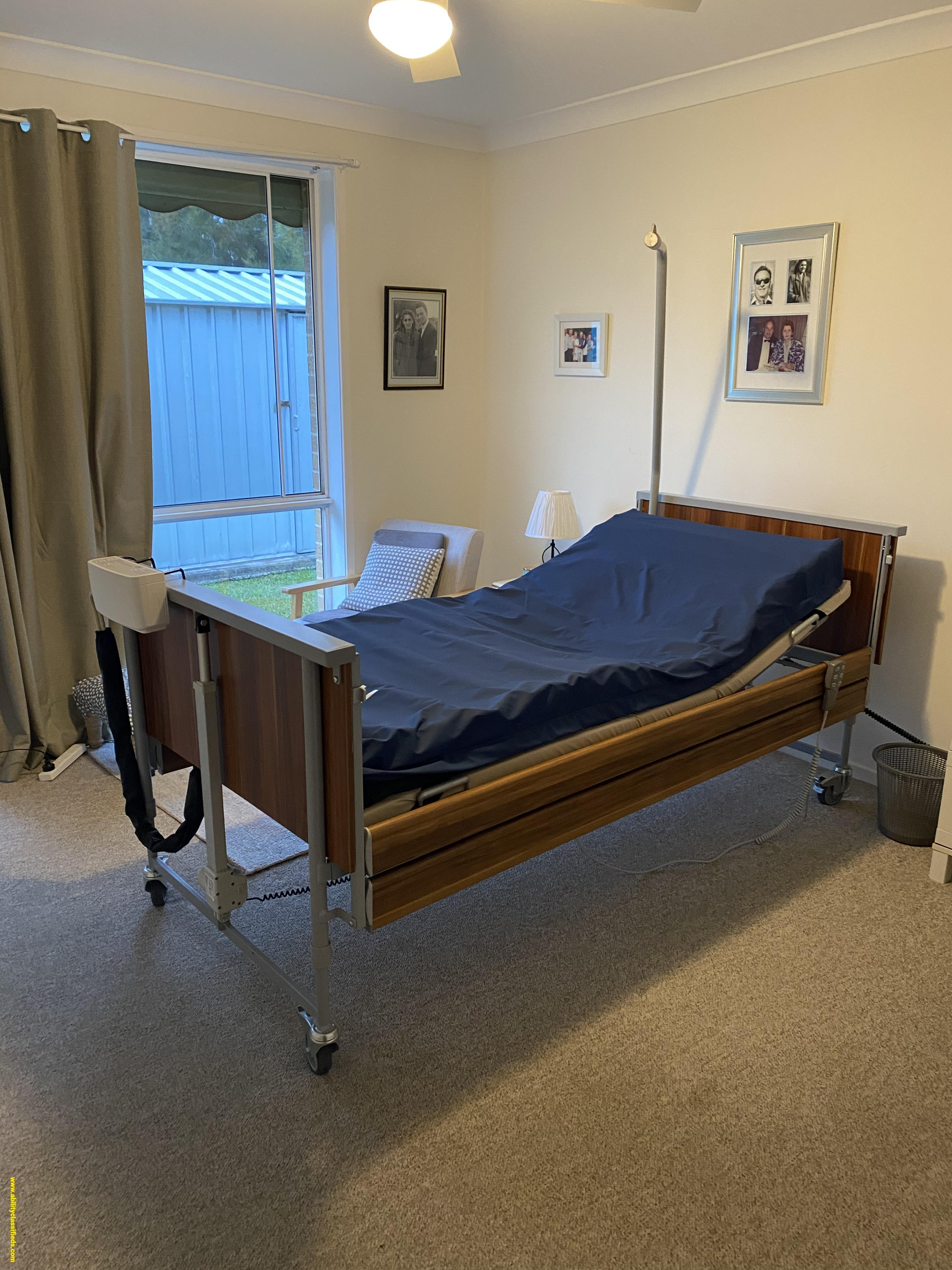 NEED GONE MAKE AN OFFER Smik care adjustable hospital bed with mattress